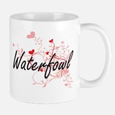 Waterfowl Heart Design Mugs