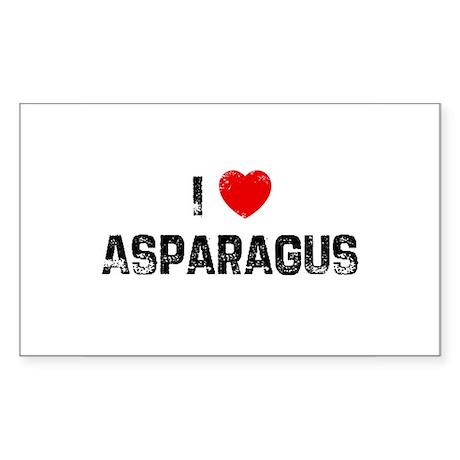 I * Asparagus Rectangle Sticker
