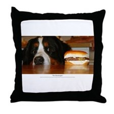 """The Hamburgler"" Throw Pillow"