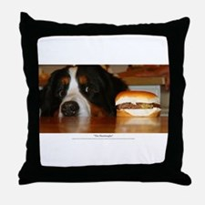 """The Hamburgler"" Throw Pillow"