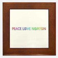 Peace Love Norton Framed Tile