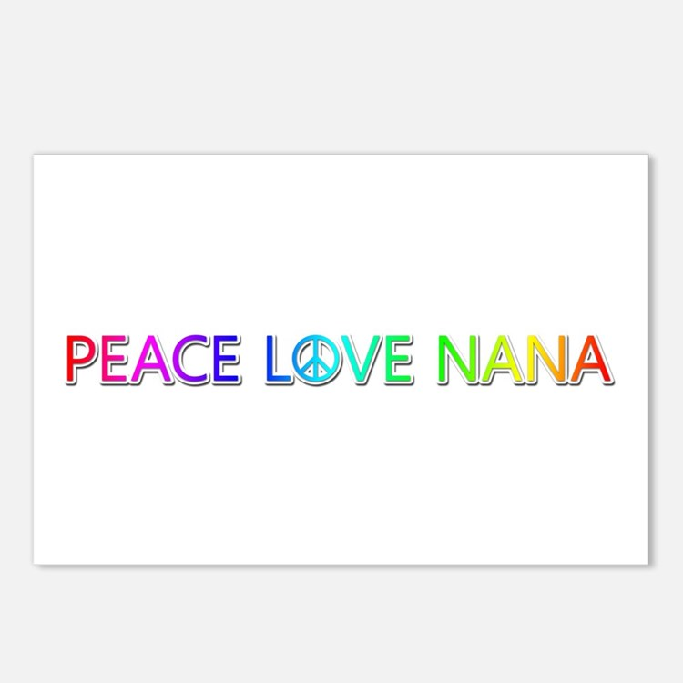 Peace Love Nana Postcards 8 Pack