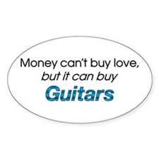 Money&Guitars Oval Decal