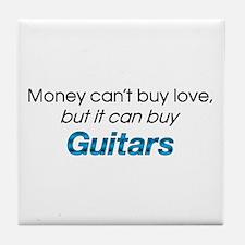 Money&Guitars Tile Coaster