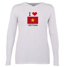 Cute Vietnam map Plus Size Long Sleeve Tee