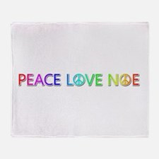 Peace Love Noe Throw Blanket
