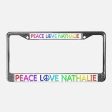 Peace Love Nathalie License Plate Frame