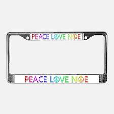 Peace Love Noe License Plate Frame