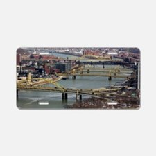 City of Bridges Aluminum License Plate