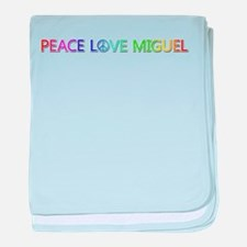 Peace Love Miguel baby blanket