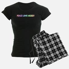 Peace Love Mickey Pajamas