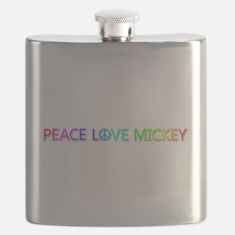 Peace Love Mickey Flask