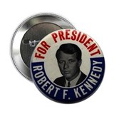 Democratic president buttons Single