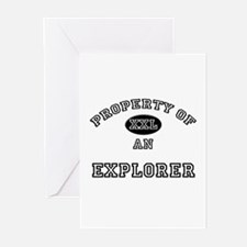 Property of an Explorer Greeting Cards (Pk of 10)