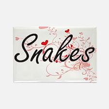 Snakes Heart Design Magnets