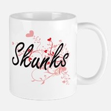Skunks Heart Design Mugs