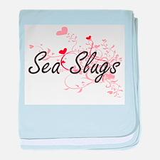 Sea Slugs Heart Design baby blanket
