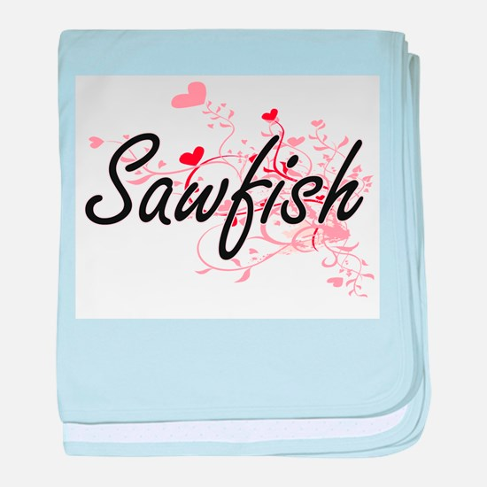 Sawfish Heart Design baby blanket