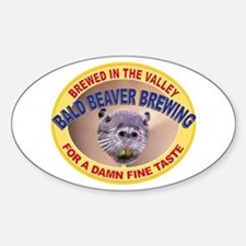 Bald Beaver Brewing Oval Decal