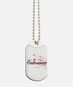 Roadrunners Heart Design Dog Tags