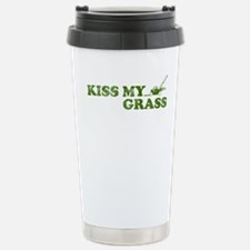 Cute Kiss my grass Travel Mug