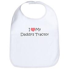 Love My Daddys Tractor Bib