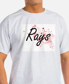 Rays Heart Design T-Shirt