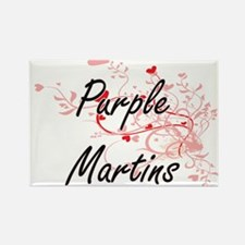 Purple Martins Heart Design Magnets