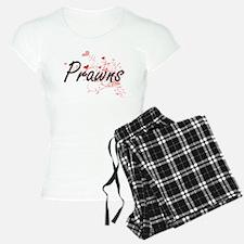 Prawns Heart Design Pajamas