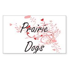 Prairie Dogs Heart Design Decal