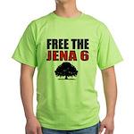#4 Free the Jena Six Green T-Shirt