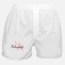 Porcupines Heart Design Boxer Shorts
