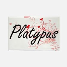 Platypus Heart Design Magnets
