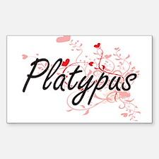 Platypus Heart Design Decal