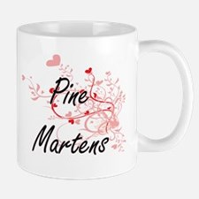 Pine Martens Heart Design Mugs