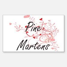 Pine Martens Heart Design Decal