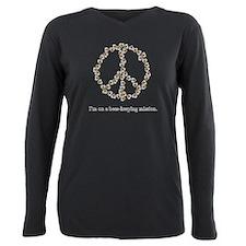 Unique Love peace Plus Size Long Sleeve Tee