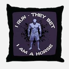 I Am A Horse Throw Pillow
