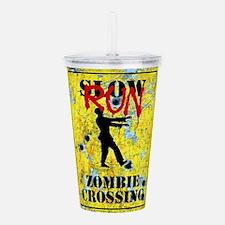 RUN Zombie Crossing Acrylic Double-wall Tumbler