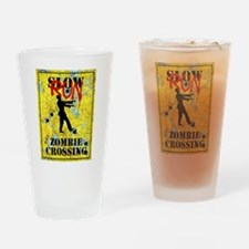 RUN Zombie Crossing Drinking Glass