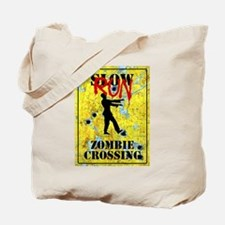 RUN Zombie Crossing Tote Bag