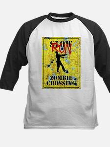 RUN Zombie Crossing Baseball Jersey