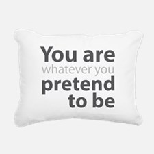 You are whatever you pre Rectangular Canvas Pillow