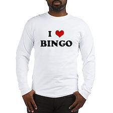 I Love BINGO Long Sleeve T-Shirt