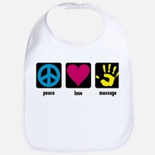 Peace, Love, Massage Bib