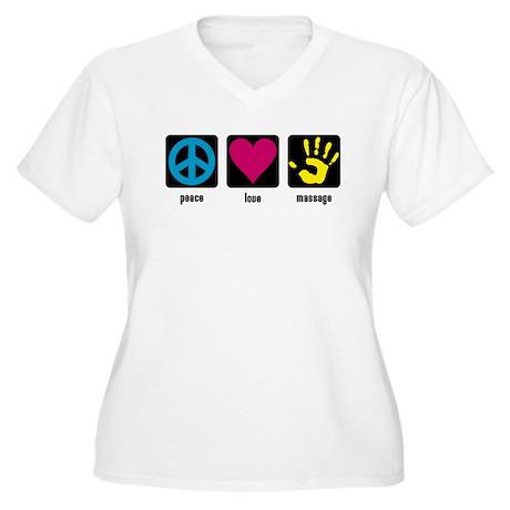 Massage Women's Plus Size V-Neck T-Shirt
