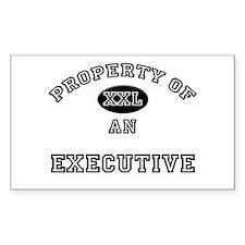 Property of an Executive Rectangle Decal