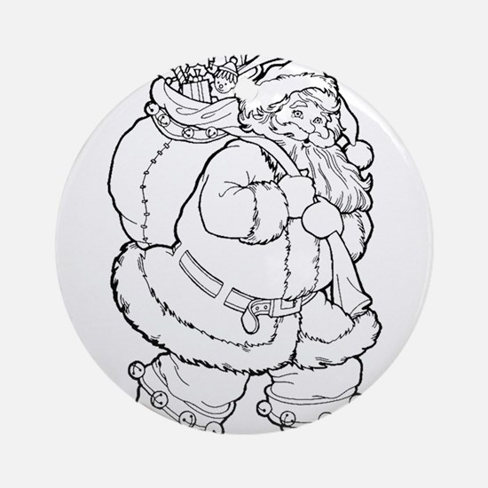 Santa Claus Round Ornament