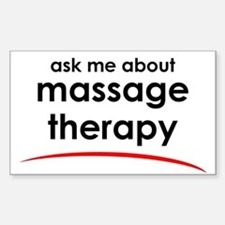 Ask Me About Massage Rectangle Decal