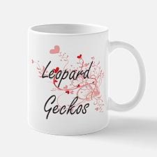 Leopard Geckos Heart Design Mugs
